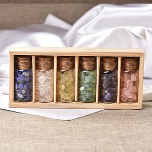1Box-packed Natural Crystal Gravel Specimen Glass Bottle Used for Decoration And Furniture Decoration Fengshui Spirit Healing