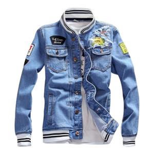 Luxusmänner Designerjacke Männer Frauen Hohe Qualität Print Denim Jacke Herren Designer Mantel Frauen Tops Schwarz Blue Jean Jacken Größe S-5XL