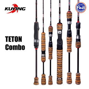 KUYING TETON Combo 1.56m 1.8m 1.86m 1.9m 1.92 1.98m Carbon Super Ultra Light Soft Baitcasting Casting Spinning Lure Fishing Rod Q1203