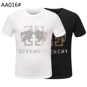 Ummer Paris para hombre ropa de lujo taladro caliente camiseta diagonal letra impresión t shirt moda r tshirts casu; 957