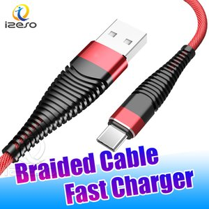 2A Fast Charging Braided Sync Data Cable 3FT Flexible Line Micro USB C Quick Charger Cord for Huawei LG MOTO Phone izeso