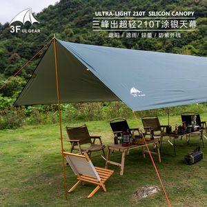 3F UL GEAR New Multiplayer Ultralight 210T Silver Tarp Canopy Sunshade Outdoor Camping Hammock Rain Beach Sun Shelter