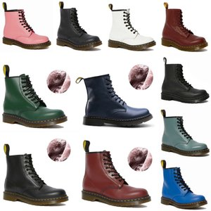 20+colors designer 1460 ankle dr platform martin men mens women womens fur snow martins boot desert doc boots 36-46 39b7#
