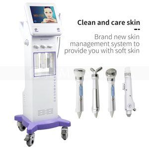Korean Style 5 in 1 Cooling RF Microcurrent Face Lift Ultrasonic Massage Hydrafacial Microdermabrasion Hydro Aqua Peeling Facial Machine