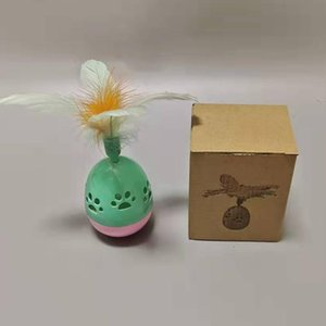 Funny Tumbler Ball With Bell Toy Durable Interactive Feathered Pet Egg Toy Supplies