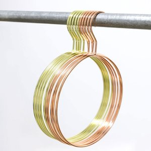 Northern Europe Circular Hangers Large-Diameter Towel Clothes Hangers Metal Iron Art Underwear Rack Rose Gold And Golden Colors 3 4qh J1