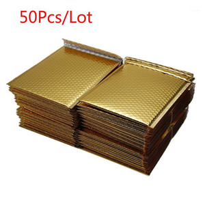 50 PCS 롯의 다른 사양 금 도금 종이 버블 봉투 가방 메일러 패딩 배송 봉투 버블 우편물 bag1