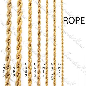 Wholesale - 3 4 5  24K Gold Plated Necklace Chain Rope MENS Womens Chain GF Jewelry Fashion Necklace for Men Women