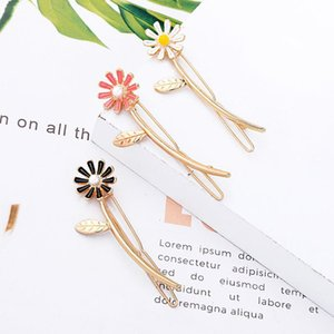 woman hairpin zinc alloy flower red black white wild cute small fresh girl holiday gift foreign gas ladies jewelry