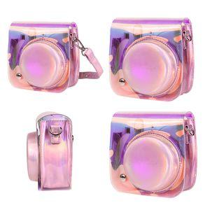 BACGIA QUALITÀ Cute Glitter PU Custodia in pelle PU Cover Custodia protettiva per fotocamera istantanea Fujifilm Instax