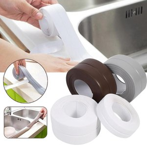 Self Adhesive Bath Wall Sealing Strip Kitchen Sink Basin Edge Anti-mildew Tape Trim Bathroom Toilet Crevice Strip Repair sticker