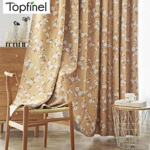 TopFinel Blackout Cortinas Adecuado para dormitorio Sala de estar Kapok Patrón Pequeño estilo rural fresco Drape Modern1