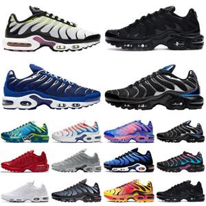 TN Artı Koşu Ayakkabıları Erkek Beyaz Volt Siyah Hiper Psişik Mavi Oreo Mor Bayan Nefes Moda Spor Sneakers Eğitmenler Açık