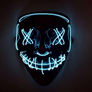 2020 Fashion Trend Halloween Mask Purification Mask Costume Dj Party Light Up Mask Glowing Dark Colors Are Available