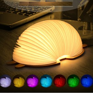 Creative Foldable Pages Led Book Shape Cartoon Design Night Light Lighting Lamp Portable Booklight Usb Rechargeable Panda