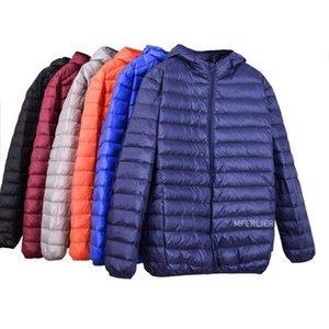 MFERLIER Winter Autumn Down jackets men 5XL 6XL 7XL 8XL 9XL 10XL bust 163cm plus size large size loose jackets men 6 colors
