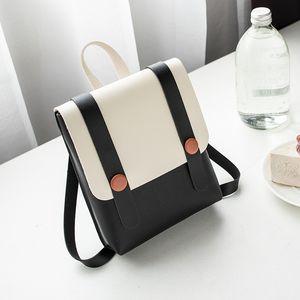 Hot Sale Backpack single shoulder bag Korean version 2020 new color contrast women's bag small fresh lovely versatile Street bag popular