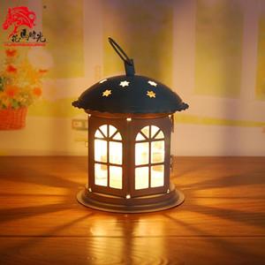 Europa vela porta hierro cristal decoraciones de boda votivo linterna candelabro chandelier Kandelaar Decoración del hogar Rustic AD50CH