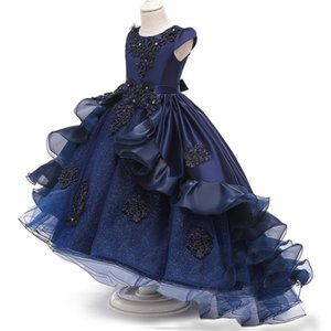 Kids Flower Dress For Girl Lace Princess Dresses Elegant Children Prom Long Gowns Teen Girls Party Evening Bridesmaid Frocks Y1130
