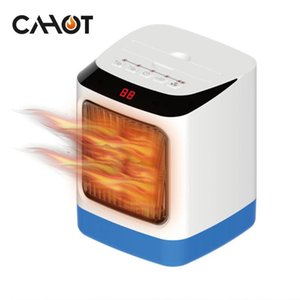 CAHOT Fan Heater Hot Air Portable Handle Remote Intelligent Control CNC Display Colorful Nightlight Intelligent Timing