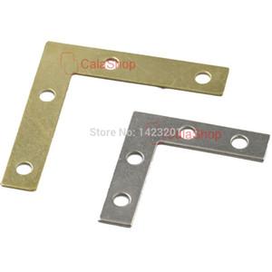 20 Pz / lotto L figura in acciaio Corner Brace Plate Brace Bracket Bracket 4 Mobili Windows Porte