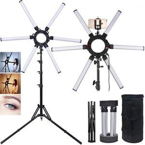 FOSOTO Photography Light 6 TUBES 672PCS LED видео светильник 120W мультимедиа экстремальный звездный светильник с штативом для телефонной камеры YouTube1