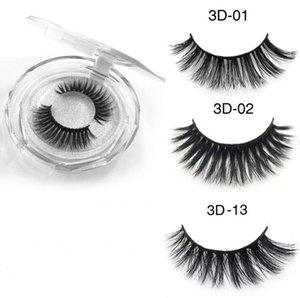 Thick Mink Lashes 3D Silk Protein Mink False Eyelashes Long Lasting Lashes Natural Mink Eyelashes Round Box Packaging 36 Styles