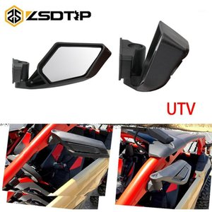 ZSDTRP 2Pcs Motorcycle Rear View Mirrors Racing UTV Side Mirrors Center distance 45mm1