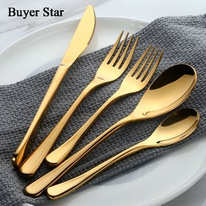 Buyer Star 20-Piece 18 10 Stainless Steel Silverware Cutlery Set Flatware Dinner Service For 4 Western Tableware Spoon Fork Set Z1202