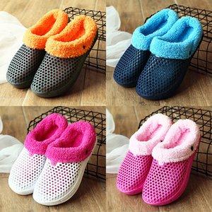 STS Women Slippers Winter Fur Unisex Shoes Warm Ladies Indoor Sandals Female Winter Loafers Plus Velvet Clogs Garden ShoesZ1127