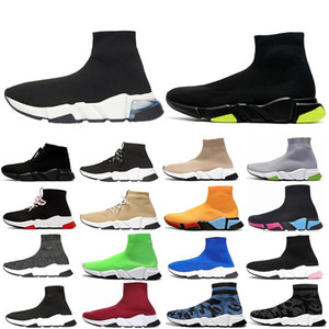 whosale 2020 Speed-Trainer Männer Frauen Socken Caual Schuhe schnüren Dreifach schwarz weiß rot rosa Grün Außenschuh Turnschuhe up