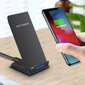 10W Wireless Charger For iPhone X 8 8 Plus Qi Wireless Fast Charging Stand Pad For Samsung Note 8 S8 S7 All Qi-enabled Smartphones MQ20
