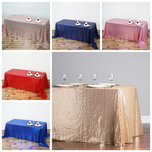 1Pcs lot Sequin Tablecloth Glitter Round&Rectangular Table Cloth For Wedding Decoration Party Banquet Home Decor Support Custom