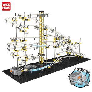 New Model Building Kit Funny Parts Space Rail Roller Coaster Toys SpaceRail Level 1 2 3 4 DIY Spacewarp Erector Set 5500mm Sport Y200413