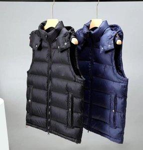 2020 Kış Yelek Kapşonlu Aşağı Yelek erkek Kapşonlu Ceket Yüksek Kalite Lüks Aşağı Yelek Kış Mont Açık Spor Ceket Giyim
