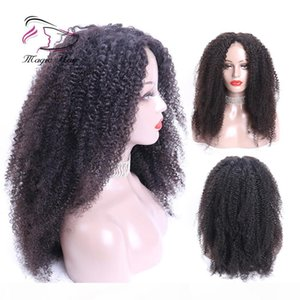 Afro Kinky Curly 360 Lace Front Wigs For Black Women Brazilian Remy Hair Human Hair Wigs Pre Plucked With Baby Hair