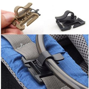 Rotatable Drink Tube Clip Gear Water Pipe Hose Clamp Backpack Molle Carabiner Tactical Buckle Outdoor Camping Hike Accessories