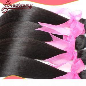 Prix usine Vente chaude Haute Qualité Cheveux Indiens Hair Coiffures Teins Soft Coiffures droites 3pcs Lot Grealetremy Factory Outlet