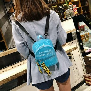 Women Clear Bags PVC Transparent Jelly Casual Handbag Tote Messenger Backpack Shool Bag