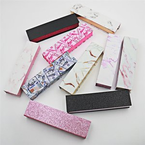 Eyeliner Pen Box Magic Self Adhesive Marble Pattern Makeup Lash Gule Pen Package Case Custom Eyeliner Pencil Box 187 N2