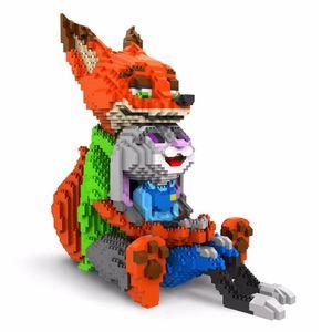 Balody Diamond Blocks cute Judy Rabbit Nick Fox Model Plastic Building Toy Stitch Auction Figures Brinquedos for Children Gifts Q1126