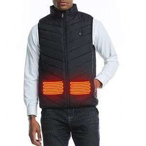 Men Autumn Smart Cotton USB Infrared heating Vest Women Outdoor Flexible Thermal Winter Warm Jacket