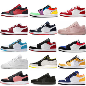 Air Jordan aj 1s 2020 Jumpman Mulheres Homens 1s High Low Zoom Racer Travis 1 Basquete Running Scotts Sapatos 4S Senhoras Retro Sports Trainers Sneaker com caixa