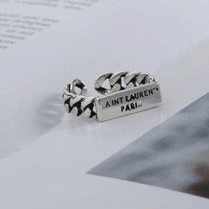 New Vintage Letter Open Ring Women Exquisite Girl Retro Letter Finger Ring Fashion Jewelry Accessories for Gift Party