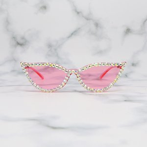Katze integrierte verbundene Bonbonfrauen frameless Eye Sunglasses Jelly transparent GXVTR