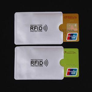 100pcs / lot Anti-Scan Carta Card Sleeve Credit RFID Card Protector Pellicola Anti-magnetico Anti-magnetico Foil Portabicchieri Portabicchieri