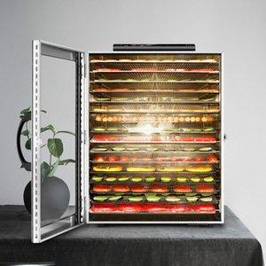 16 слоев большие сушилки сухофрукты травят обезвоживание овощи из мяса сушилка из мяса нержавеющая сталь 220V 110V