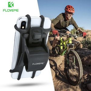 FLOVEME Bike Bicycle Phone Holder Universal Motorcycle Mobile Cell Phone Holder Stand Handlebar Clip Soft Silicone Mount Bracket