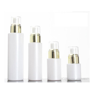 15 30 50g Pearl White Acrylic Airless Jar Round Cosmetic Cream Pump Packaging Bottle