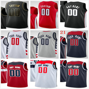 Custom Printed Russell 4 Westbrook Bradley 3 Beal Rui 8 Hachimura Davis 42 Bertans Men Woman Kids Youth Washington Wizards Basketball Jersey